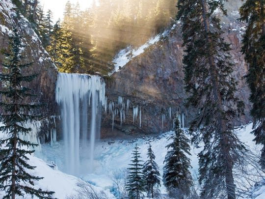 Jordan Hackworth's photo of Tamanawas Falls, located on Mount Hood, was named the best picture of the 2012-13 winter season in the Statesman Journal's Winter Waterfall Hunting photography contest. The picture was taken Jan. 12, 2013. It should see some snow with the current storm.