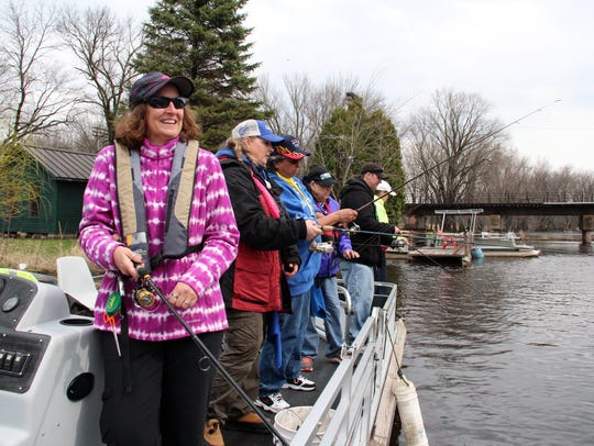 Members of WI Women Fish, a group dedicated to helping