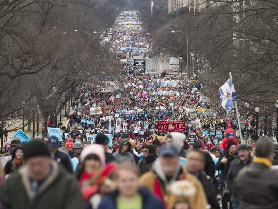 March for Life in Washington on Jan. 27, 2017.