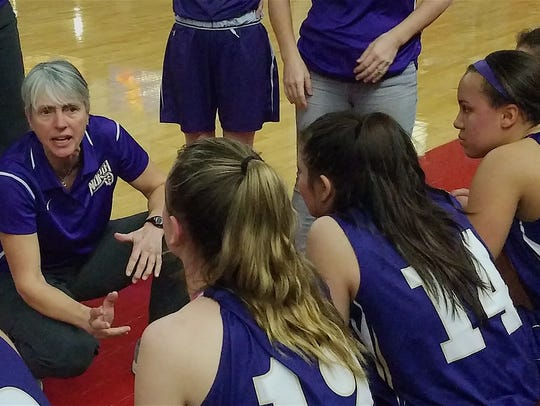 North Kitsap girls basketball coach Penny Gienger talks