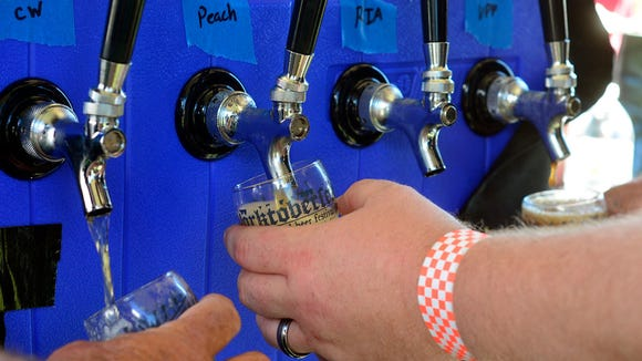 Several flavors of beer are tapped at the Gift Horse