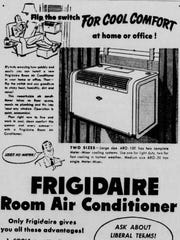 This ad for air conditioners ran in 1951.