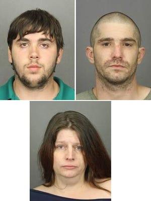 William Geer, left; Joshua Mencel, right; Jillianne Mencel, bottom.
