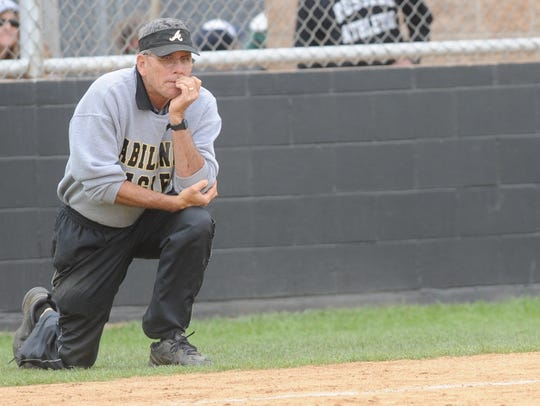 Abilene High coach Jim Reese watches his team play