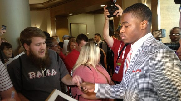 Amari Cooper and the Alabama Crimson Tide were picked by the media to win the SEC this season.
