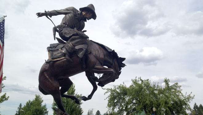 The downtown area of Joseph in northeastern Oregon at the base of the Wallowa Mountains is full of statues, artwork and eclectic eateries.