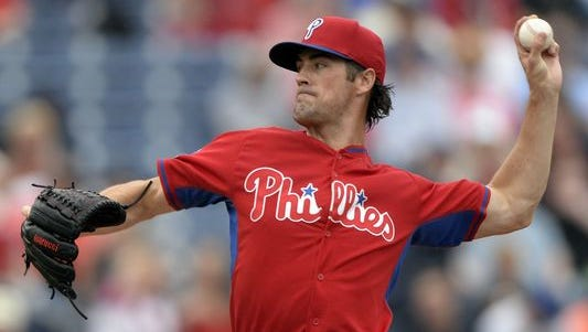 Hamels pitched two scoreless innings and struck out two batters while not allowing a walk in his spring debut.