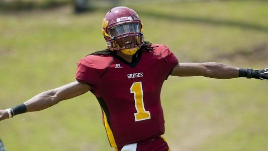 Kevin Lacey leads Tuskegee into Saturday's NCAA Division II quarterfinal game at West Georgia.
