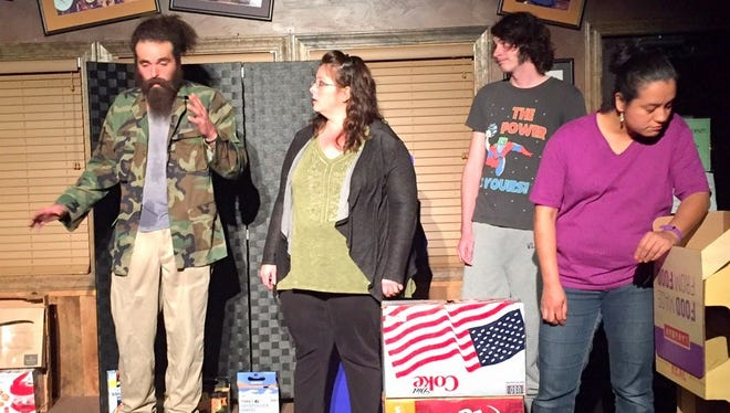 """The cast of """"Strange Things are Afoot at the Circle K"""" performed the play by Robert Eyster Saturday. as the second in a playwright series by the Lincoln County Community Theater."""