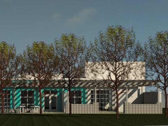 A rendering of the planned building for the new location