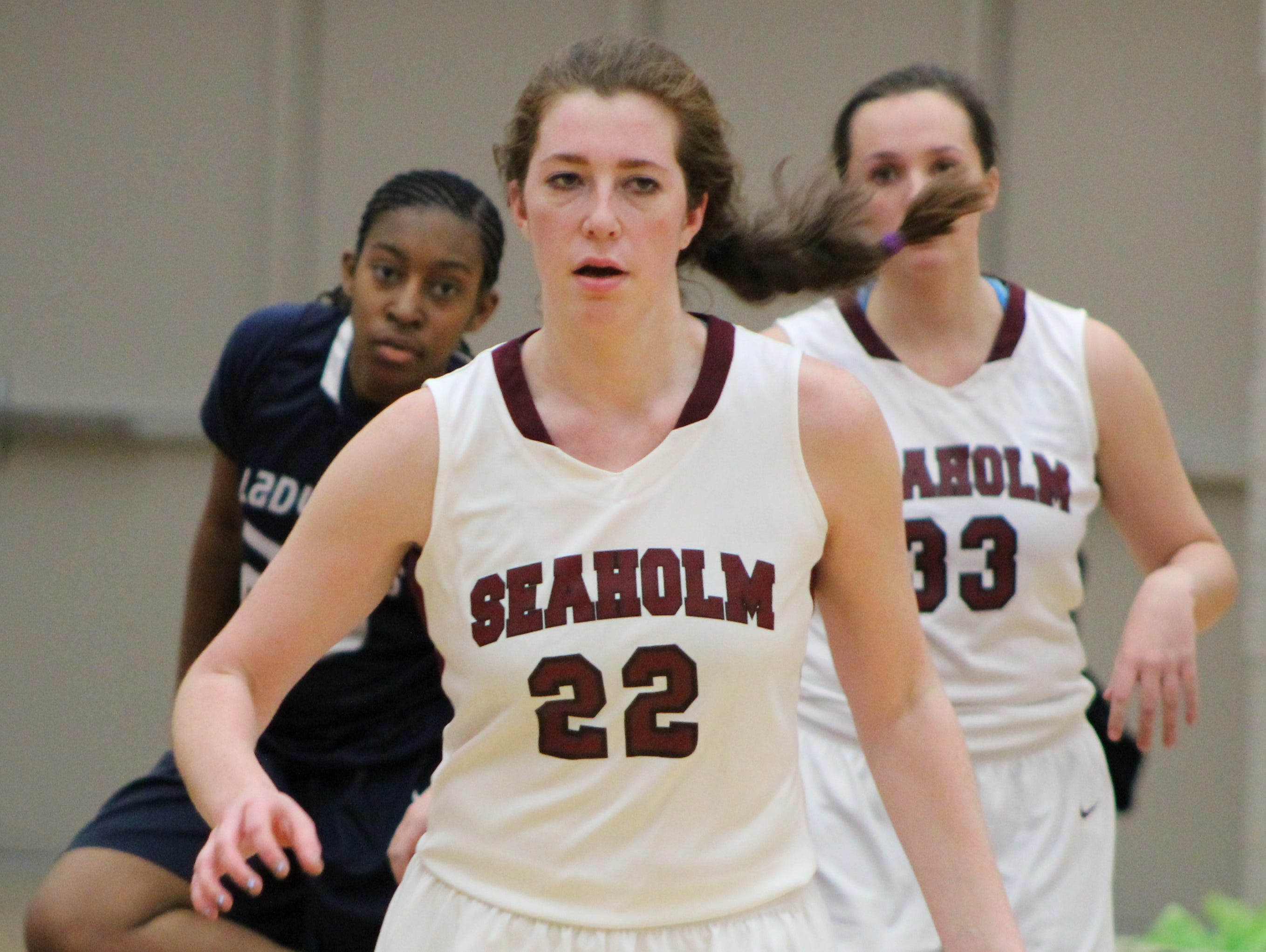 Seaholm sophomore center Dana Hoerman finished with 16 rebounds in Tuesday's victory over Troy Athens.