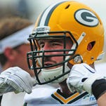 Green Bay Packers center/guard JC Tretter during training camp practice at Ray Nitschke Field, Thursday, August 21, 2014.