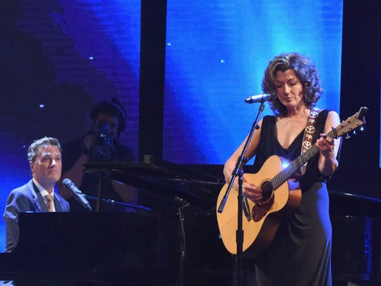 Michael W. Smith and singer-songwriter Amy Grant perform