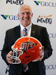 Dana Dimel, the former offensive coordinator at Kansas State and a former head coach at Wyoming and Houston, will try to rebuild the UTEP football program after an abysmal 2017 season. Dimel was announced as the 26th head coach for the UTEP football program on Wednesday.