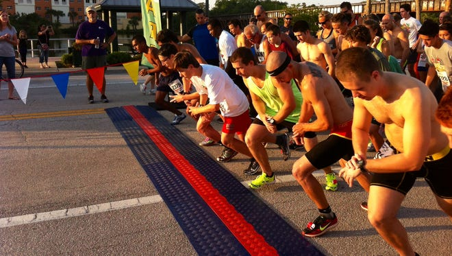 The Flamingo Run 5K gets under way Saturday morning in Melbourne.
