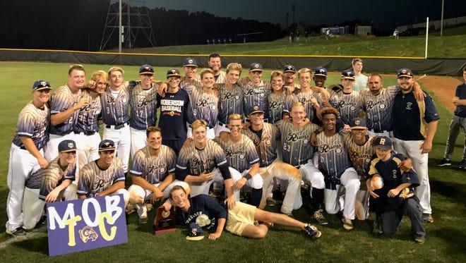 Roberson won the 4-A Western Regional baseball championship on Friday.