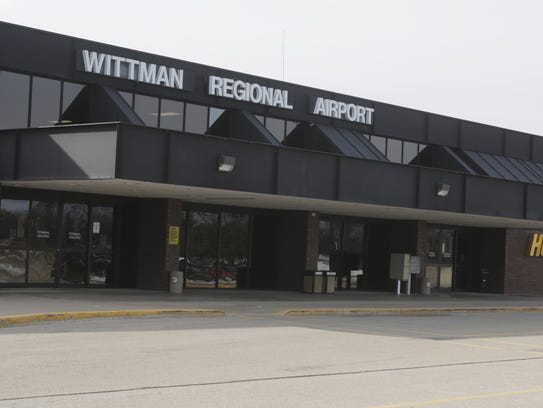 Wittman Regional Airport terminal on Feb. 15, 2017.