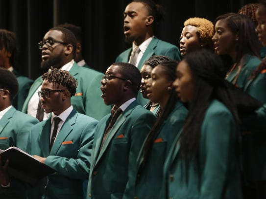 FAMU's University Concert Chorale  performs during