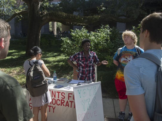 Members of the Students for a Democratic Society have