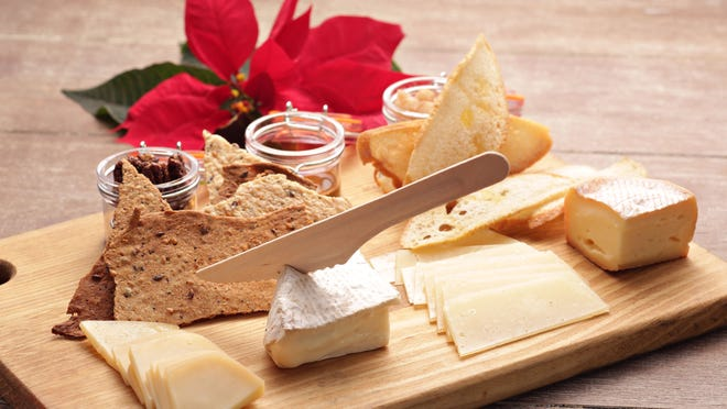 Less is more when it comes to the number of selections on cheese platters, like this one from Market by Jennifer's. Four to six cheeses is a good range — too many can bombard the palate.