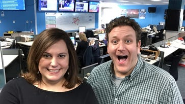 """Hi, I'm in Delaware"" podcast hosts Sarika Jagtiani and Ryan Cormier will hit the road to celebrate their 50th episode. The duo will host for their first live podcast taping in Newark Wednesday."