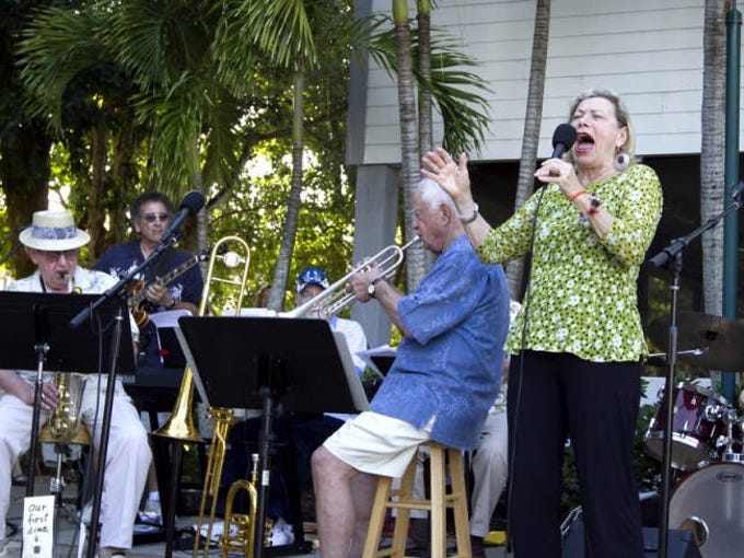 Island Jazz band vocalist Sally-Jane Heit performs at BIG ARTS Center on Sanibel Island Sunday. Made up primarily of island residents, Island Jazz features jazz musicians who play styles of music from jazz standards and Dixieland to bop, pop and more. The concert brought in about 100 local and non local residents. For more information, visit bigarts.org. Concerts are held rain or shine, on the following Sundays: January 5, 12 February 2, 9, 16, 23 March 2, 9, 16, 23, 30 April 6, 13, 20, 27.