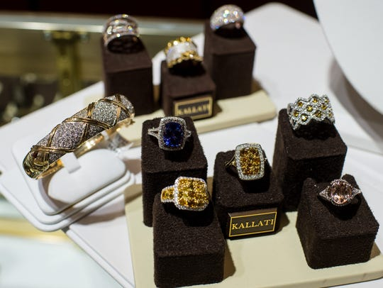 An assortment of rings and bracelets are pictured Lafayette