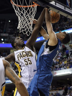 Roy Hibbert and the Pacers downed the Timberwolves to move to 13-1 on the season.