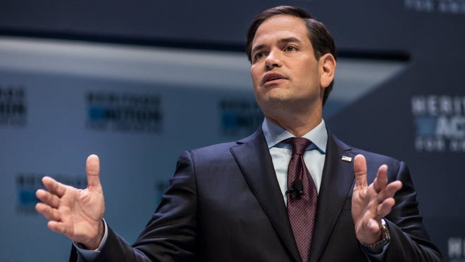 Sen. Marco Rubio, R-Fla., speaks to voters at the Heritage Action Presidential Candidate Forum on September 18, 2015 in Greenville, S.C.