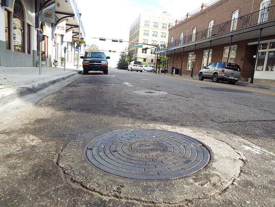 Collins manhole College looking east