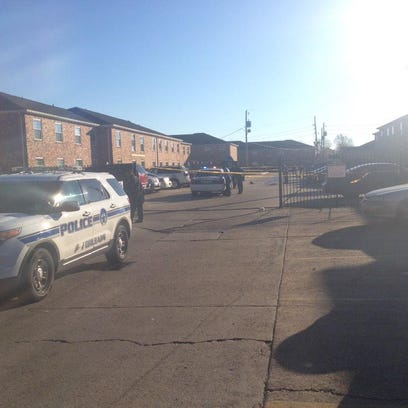 Shooting scene at Forest Park apartments in Algiers.