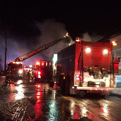 Crews respond to a working fire in Newberry Township