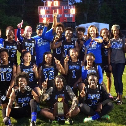 The Godby flag football team captured a district title