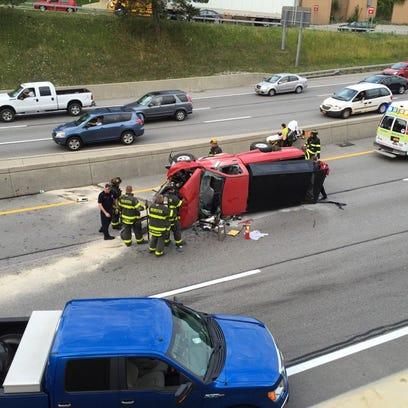 A crash on Interstate 490 shut down westbound lanes