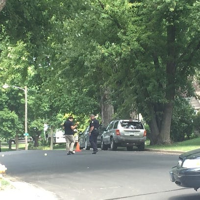 Police investigate after a report of shots fired in