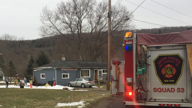 A two-alarm fire brought crews out to the Town of Maine Wednesday.