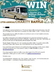 This image is of an email Innovations Housing sent to donors on March 15, 2018 regarding its 17th annual raffle. The drawing for this year's raffle is on Aug. 31. Tickets are $100 each.