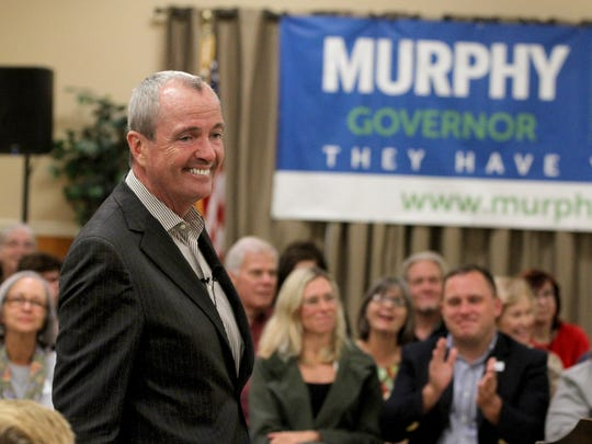 Democratic Gubernatorial candidate Phil Murphy takes questions during a town hall meeting Sunday, October 29, 2017, at VFW Post 2179 in Port Monmouth.