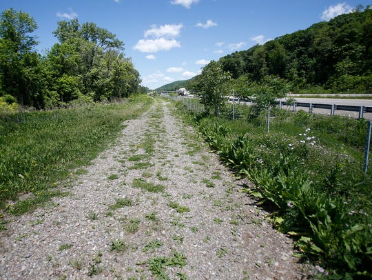 The Lackawanna Trail runs along the old railroad bed