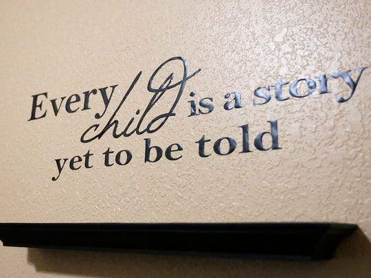 A quote hangs on a wall in the Pillar and Vine building in Brandon.