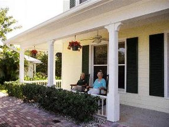 The front porch of Molly's House provides a serene, tranquil setting for families and patients to relax, meditate and otherwise enjoy the scenery