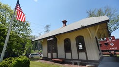 Exterior photo of Mahwah's first train station, which