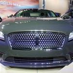 The 2017 Lincoln MKZ is shown at the Los Angeles Auto Show on Wednesday, Nov. 18, 2015 in Los Angeles.