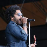 Lenny Kravitz performs on the Hangout Stage on Sunday during the 2016 Hangout Music Fest.