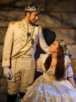 "The musical ""Into the Woods,"" with D.J. Oropeza as The Prince, at left, and Jaeme Orfanos as Cinderella, is the next production in the EPCC Theater Ensemble's 2016-17 season."