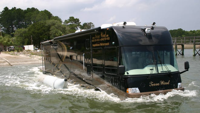 The Terra Wind, made by Cool Amphibious Manufacturers International of Ridgeland, S.C., is a fully functional RV that's also able to travel on the water.