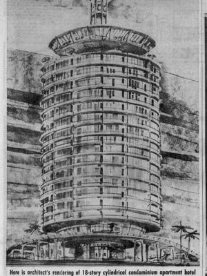 5. In December of 1963, GALC also announced its intention to build, at the approach to the new bridge, a $2.4 million, 18-story, cylindrical hotel and condominium complex finished mostly in glass.