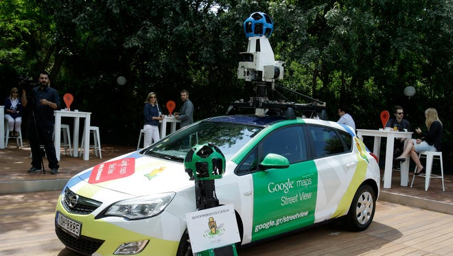 A Google Street View car.