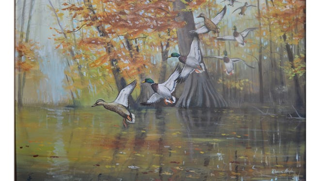Local artist Duana Hada's art will be on display at the Arkansas State Capitol in celebration of the Arkansas Game and Fish Commission's centennial.