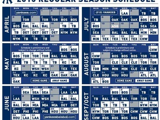 Yankees 2019 Schedule Printable – Wonderful Image Gallery